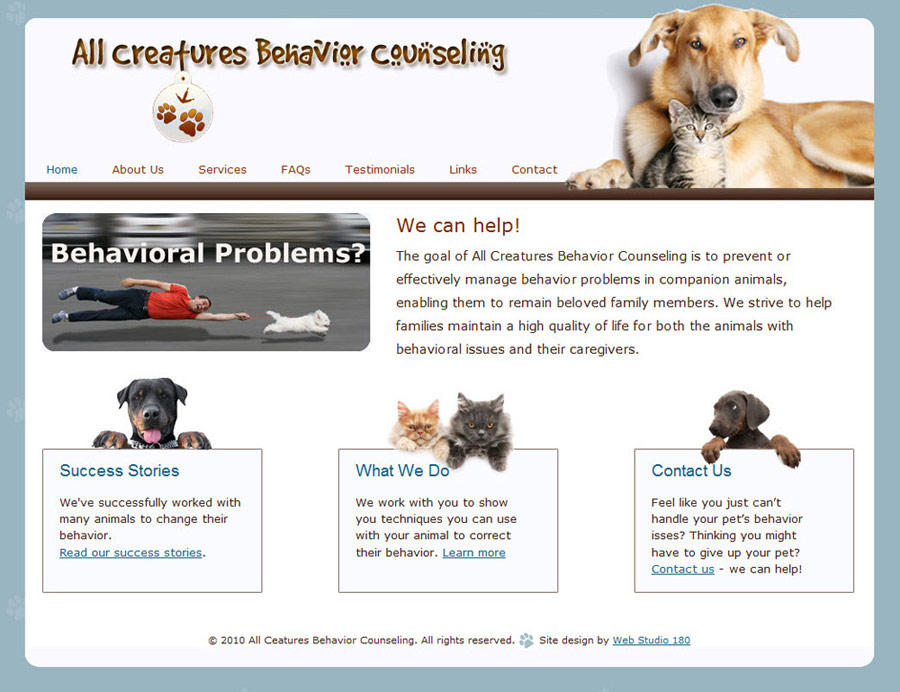 All Creatures Behavior Counseling
